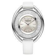Crystalline Oval White Watch
