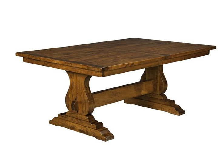 Amish Austin Dining Table  This table looks strong and full of character. I love the plank top and thick base