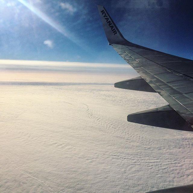 WEBSTA @ crinuuu - Travel ✨ #travel #airplane #ryanair #clouds #heaven #fluffyclouds #sunny #sun