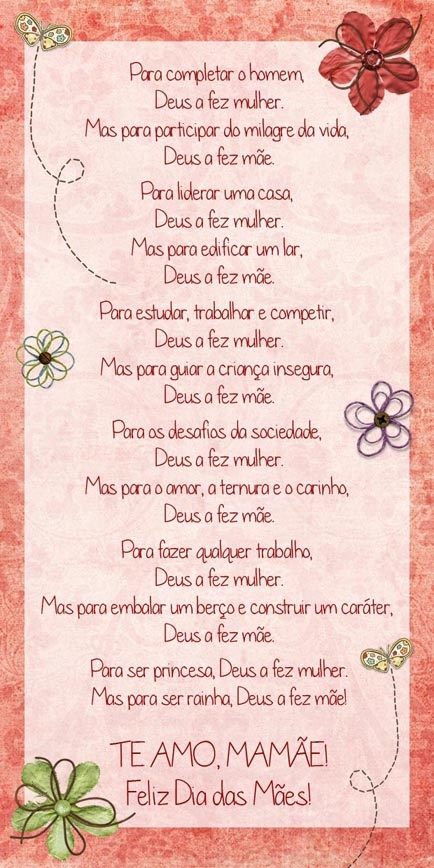 Mother's Day card (in portuguese) - scrapbook style