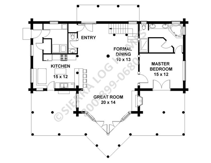 10 best dream dream dream images on pinterest country for Simple log home floor plans