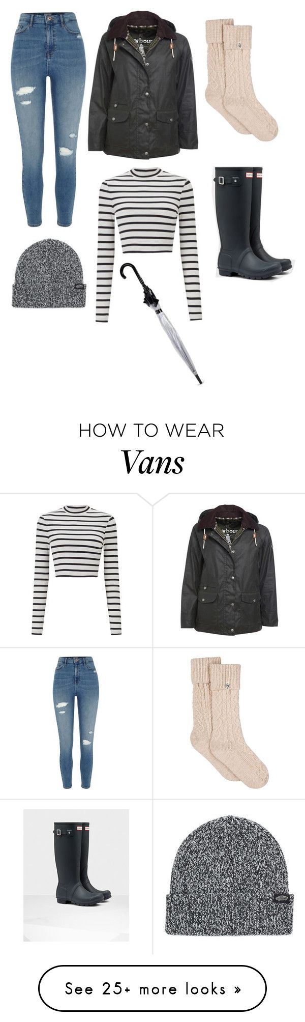"""""""Untitled #486"""" by karime-gonzalez on Polyvore featuring Miss Selfridge, River Island, Barbour, UGG, Vans and Fulton"""