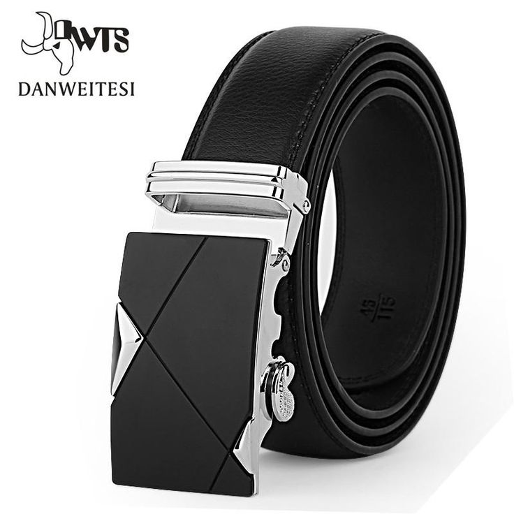 Automatic Buckle Leather Strap Belt