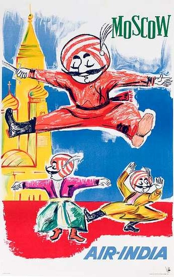 Moscow - Vintage Air India Poster #india