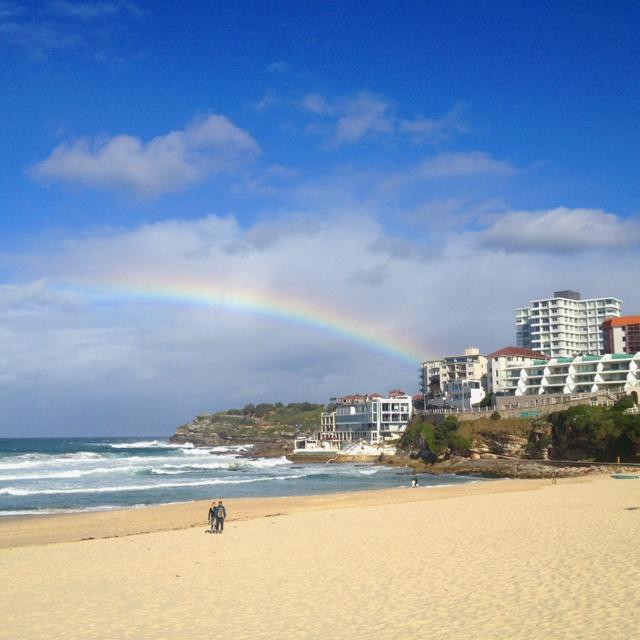 Bondi Beach rainbow