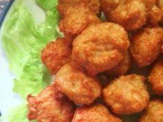 簡単!節約!鶏ひき肉と豆腐のカラアゲくん  つくれぽ1064件達成!о´∀`о 材料は『ひき肉』『豆腐』『からあげ粉』。某コンビニ『ロー●ン』のカラアゲくんみたい!