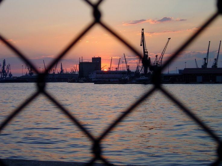 Sunset Moments at the port of Thessaloniki !!!
