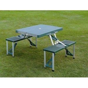 Skládací kempingový picnic set - stůl s lavičkami -...