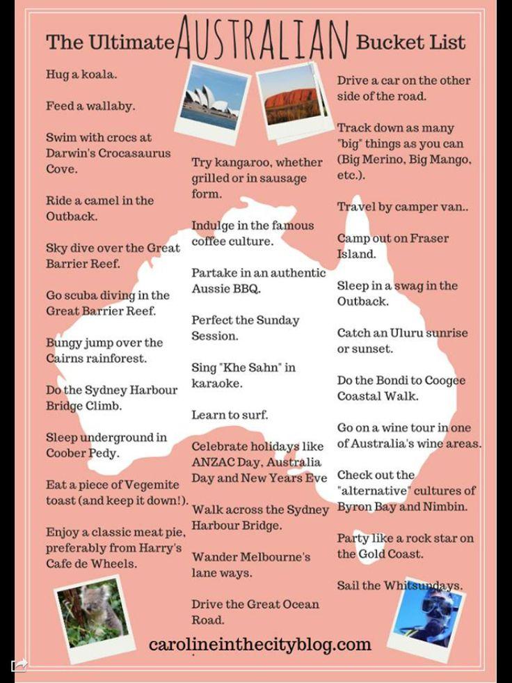 Liste de choses à faire en Australie
