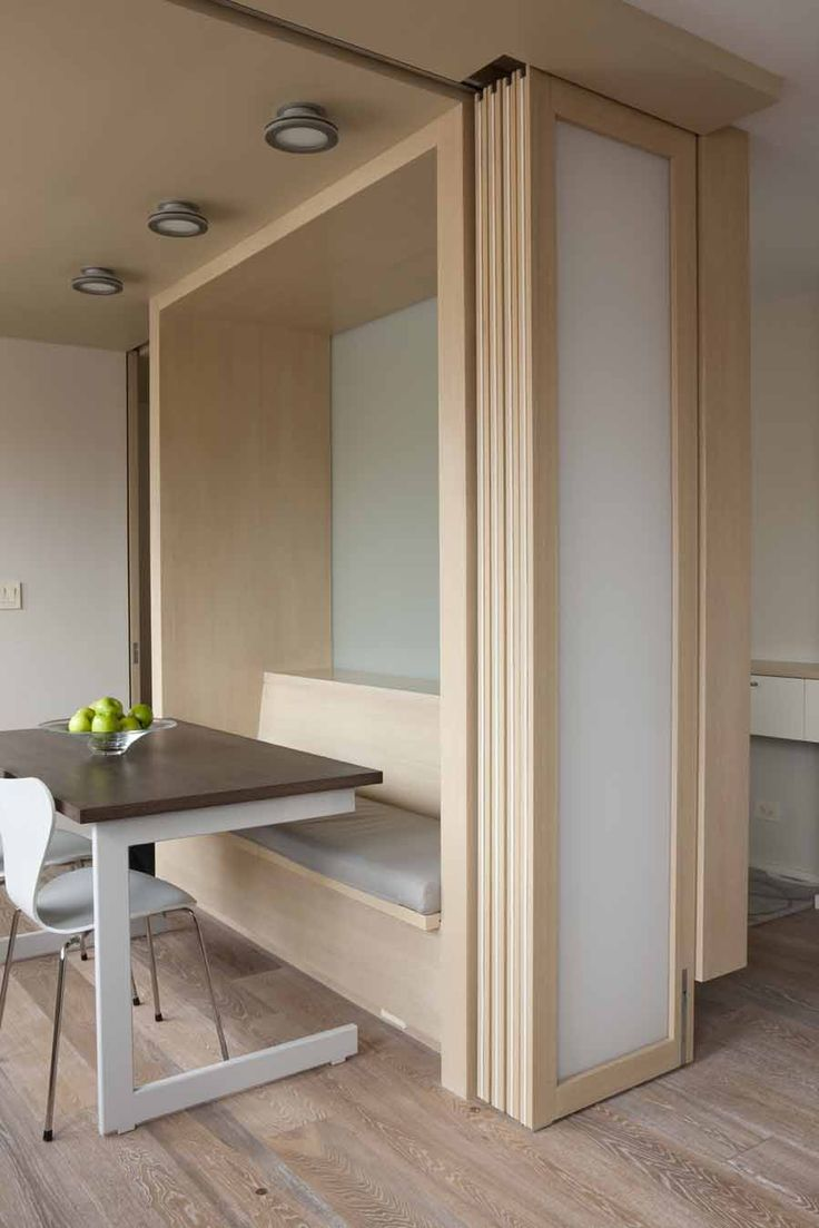 Sliding doors stack and become an architectural element of their own.
