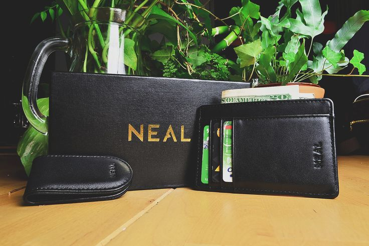 We are proud to present to you the New NEAL Slim Wallet & Money Clip Men's Gift Set!