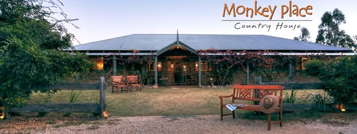 Monkey Place Country House @ Broke, just down the road from Pokolbin in the Hunter Valley