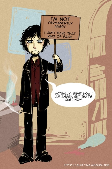 Dylan Moran...Yeah, he's always got his angry face on. :P