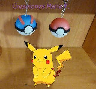 FOFUCHAS. Manualidades y Creaciones Maite: LLAVERO POKEBALL Bola de pokemon
