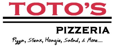 """Toto's Pizzeria, located @ Greene and Hortter Streets. Reviewed as """"Best Pizza in Mt. Airy!"""" Hand-tossed crust, robust sauce and premium shredded Italian cheeses. Order online!"""