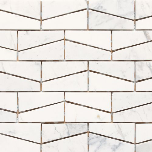 Check out this Daltile product: Stone a' la Mod Wedge Polished Contempo White M313