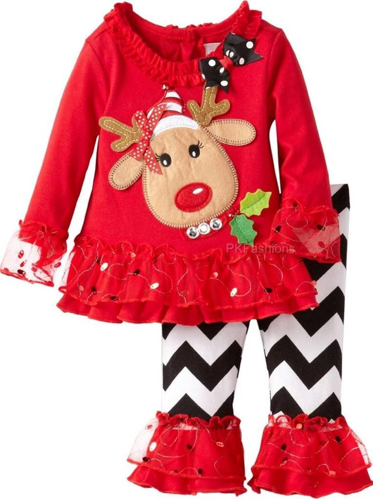 Adorable Girls Christmas Outfit