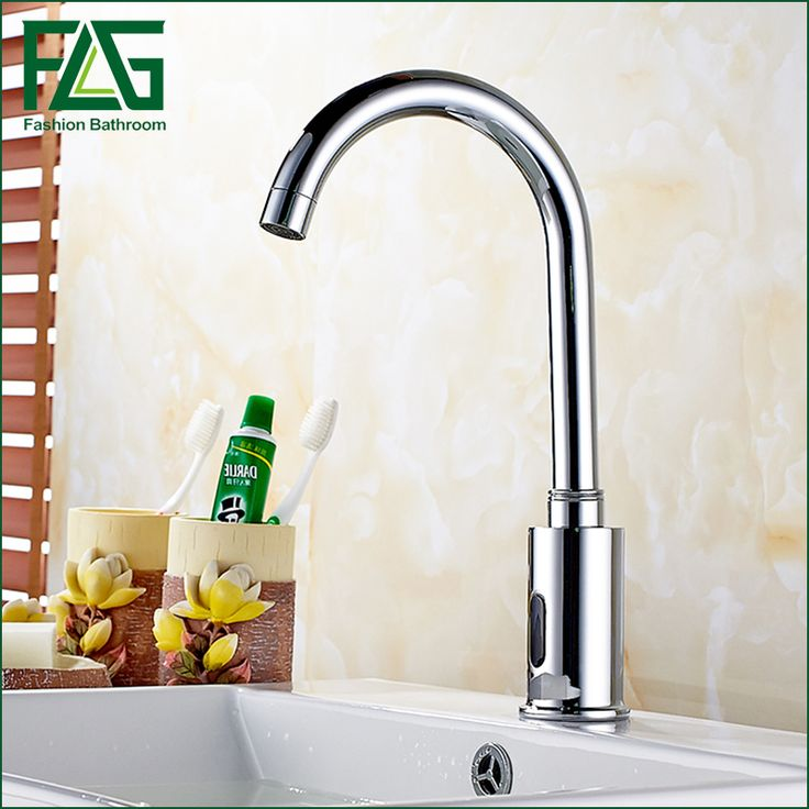 FLG Bathroom Faucet Waterfall  Water Saving Faucet Chrome Polished Touchless faucet Fully-automatic Faucet infrared sensor fauce