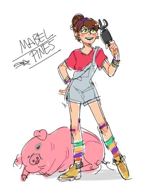 """justalittlemoresummer: """" Doodle of an older Mabel """""""