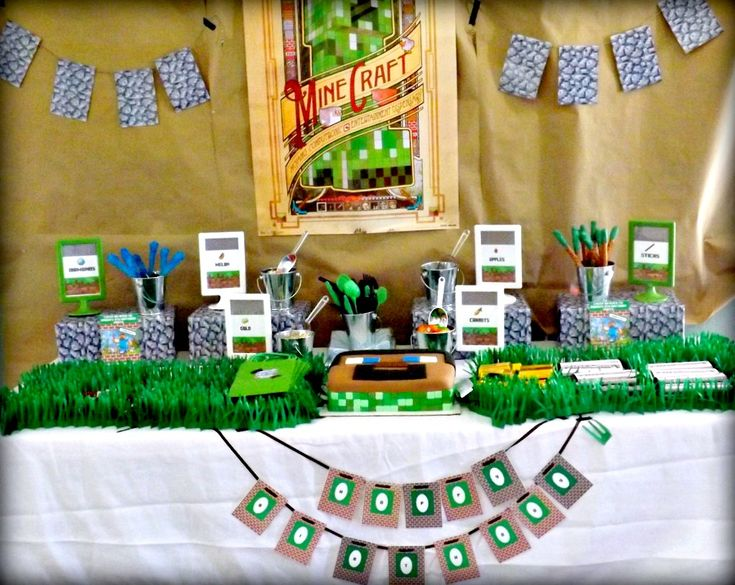 Minecraft-Themed Birthday Party - Project Nursery: Minecraft Themed, Partyidea, Birthday Parties, Minecraft Birthday Party, Minecraft Party, Kids Party, Party Ideas, Birthday Ideas