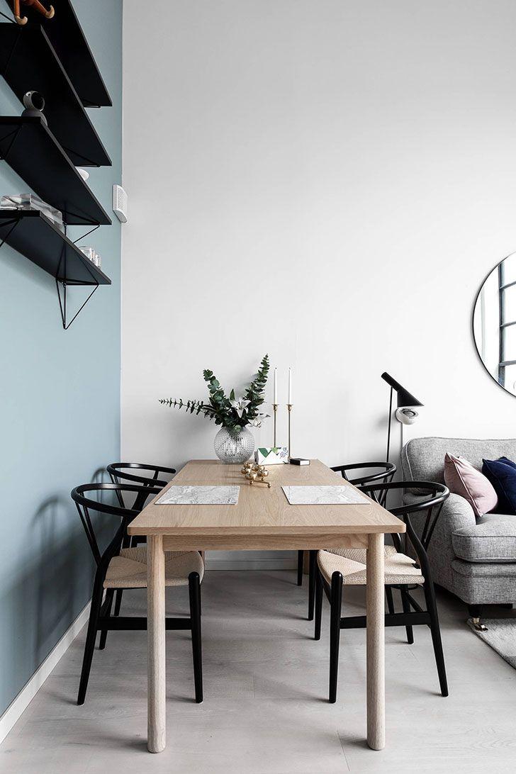 Небольшая квартира с огромным окном в Стокгольме (52 кв. м)   Пуфик - блог о дизайне интерьера