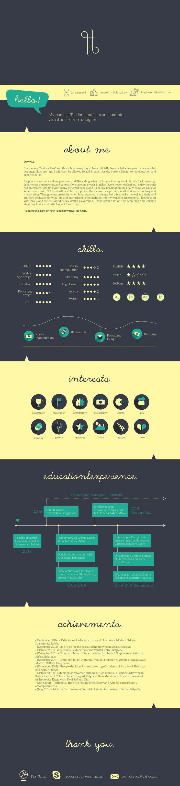 9 Best Designers CV Images On Pinterest
