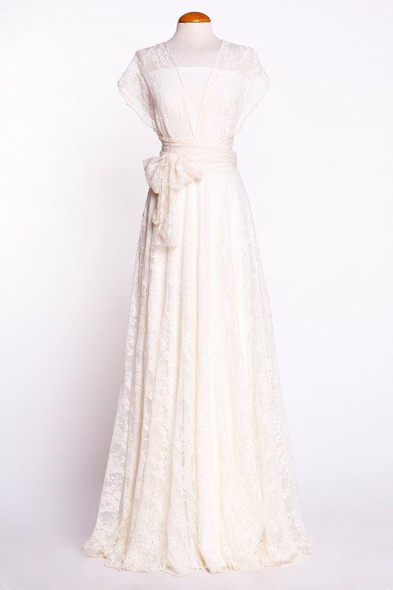 Robe de mariée décolleté dans le dos robe de mariée en par mimetik
