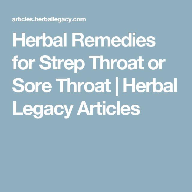 Herbs for strep throat