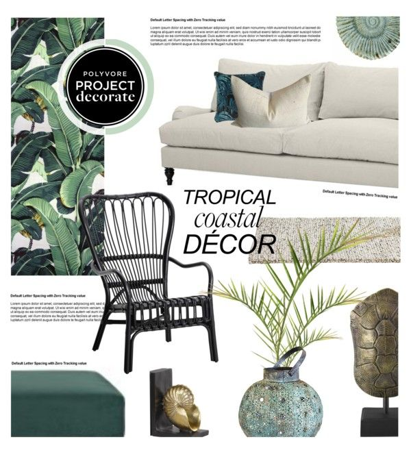 """Tropical Coastal Decor"" by mariinadenisova on Polyvore"