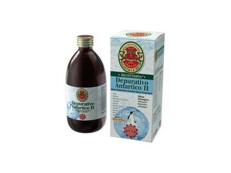 HERBOFARM DEPURATIVO ANTARCTIC II. The herbs that make up the Antarctic Depurativo II act as detoxifying, digestive and cholagogue, a major component in all seaweeds is alginic acid in the alga Durvillea Antarctic where it is found in higher proportions, 48%