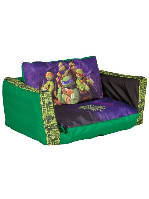 Teenage Mutant Ninja Turtles Flip Out Sofa Bed 100% Official Merchandise - Fully inflatable for extra comfort, Inflates in minutes - Can be folded out to make a bed too!