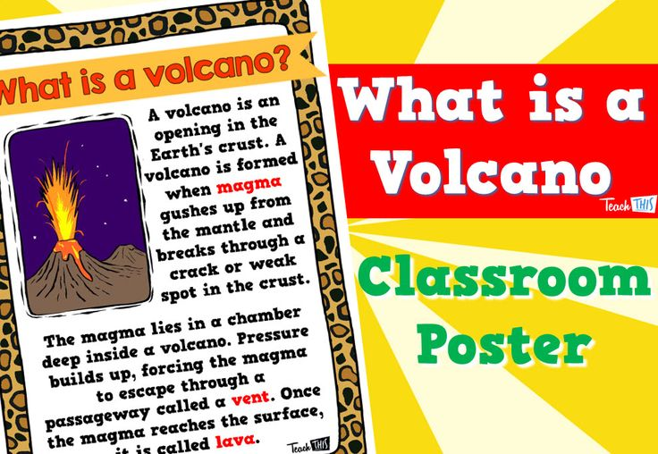 What is a Volcano - Poster
