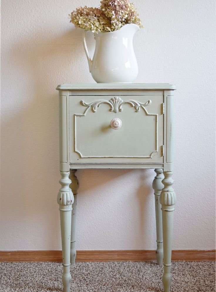 Picturing this in Misty Fjord and Candlelight :) Ornate End Table gets a MINT Makeover! | Timeless Creations, LLC