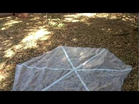 DIY hexagonal tarp for hammock camping. Less than $5