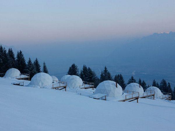 Looks like a fun hotel! -Swiss AlpsSki Resorts, Cabin, Mountain, Beds, Whitepod Alpine, Swiss Alps, Alps Suizo, Alpine Ski, Hotels