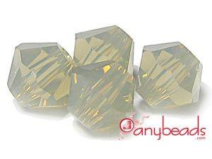 Light Grey Opal - Swarovski Crystal Elements 5301/5328 Xilion Bead Bicones 4mm  #lightgreyopal #Swarovski #crystal #5301 #5328 #bicone #jewelrysuppies #crystalbeads #anybeads
