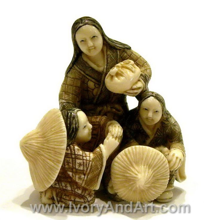 This is a very high quality mammoth ivory carving netsuke Mammoth Ivory Netsuke – mother & her 2 daughters This Netsuke is Hand carved by Master Carver to perfection. This netsuke is made of 100% genuine Mammoth Ivory Tusk. The extinct woolly Mammoth roamed the earth before 10,000-40,000 years ago. [...]