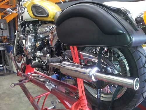 Hand made silencer by Custom Chrome Ltd - Home of the cherry bomb exhaust/muffler