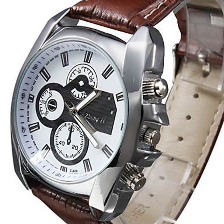 Men Watch 2016 Business Quartz watch Military Men sport Watches Luxury Brand Hot Boy Leather Strap