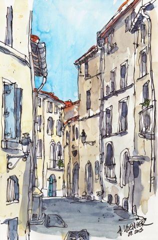 Urban Sketchers Germany: Montpellier