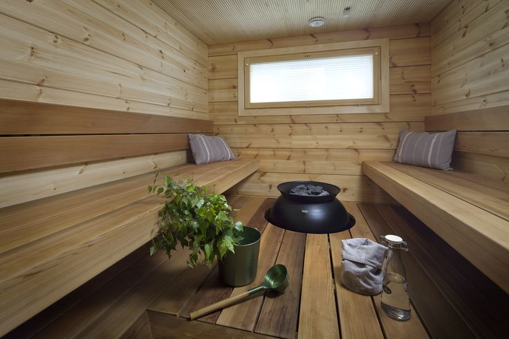 Relaxing sauna. Honka log homes.