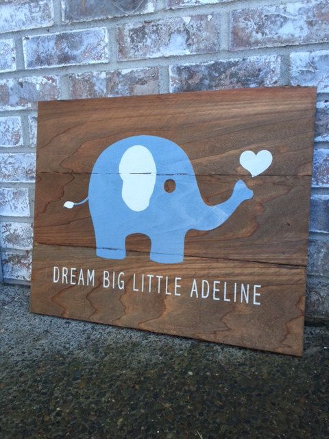 Superb Baby Elephant, Baby Gifts, Baby, Baby Shower, Signs, Home Decor,