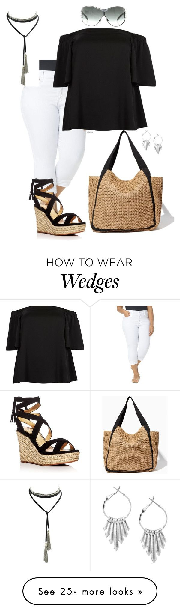 """""""Style inspiration- plus size"""" by gchamama on Polyvore featuring NYDJ, River Island, Splendid and Chanel"""