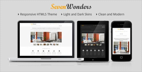 SevenWonders - Clean Responsive WordPress Theme