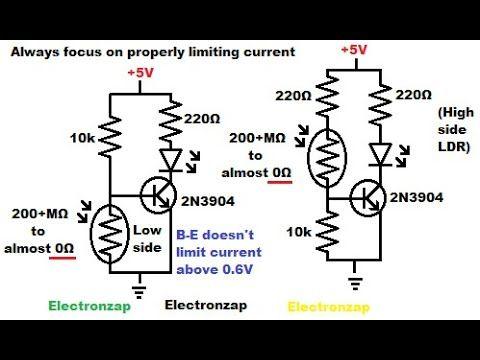 Avoiding potential short circuit using light dependent