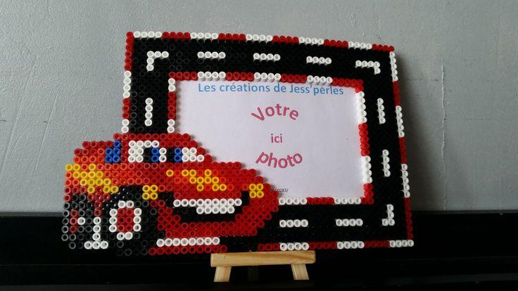 Cars photo frame hama beads by jess-perles