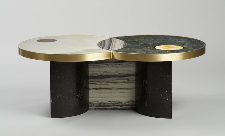 Jewelry Designer Lara Bohinc Partners With Lapicida To Create A Collection  Of Patchwork Marble Tables Inspired By Orbital Movement.