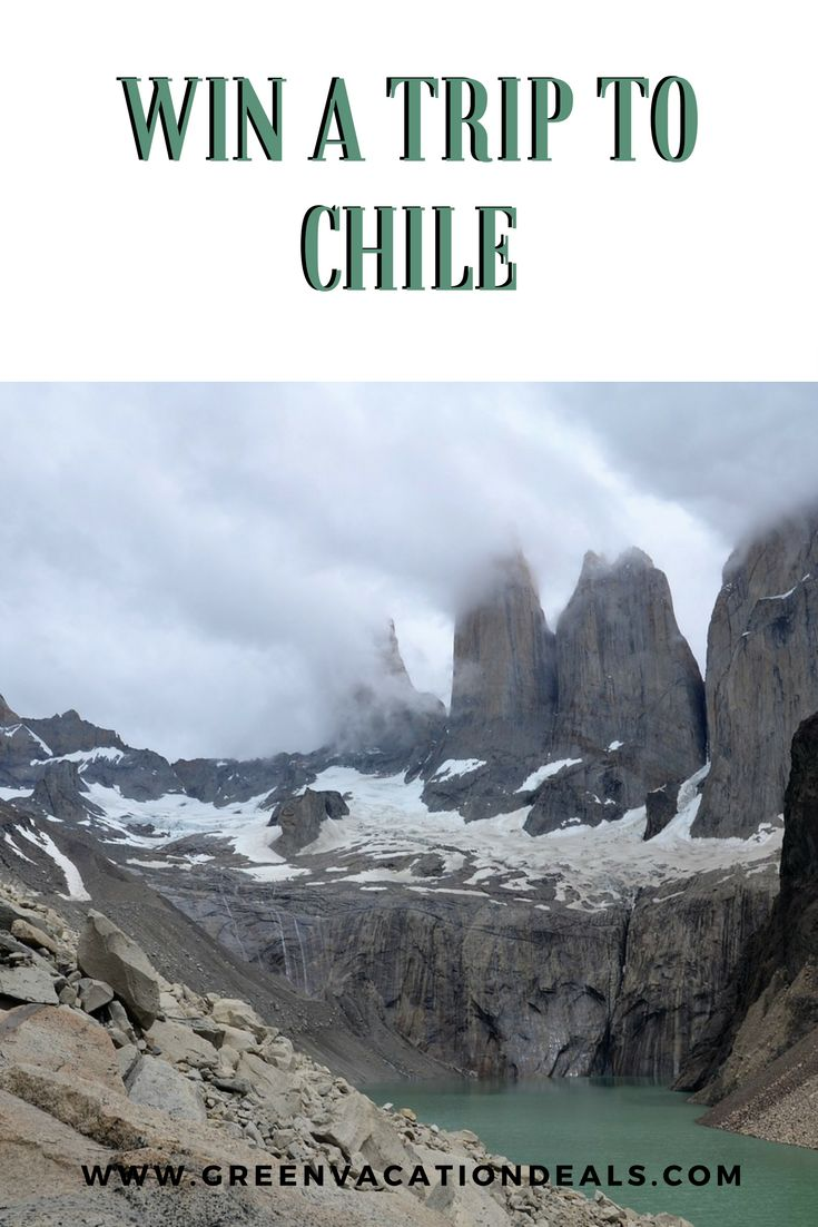Win a free trip to Chile. Vacation sweepstakes with a grand prize of a trip to Patagonia, hotel stay, guided excursions and more. Excellent way to visit Chile for free! #Travel #Sweepstakes #Chile #Patagonia