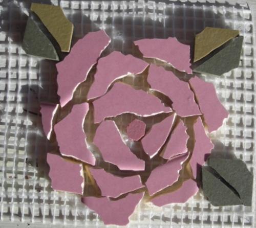 Make Roses in mosaic