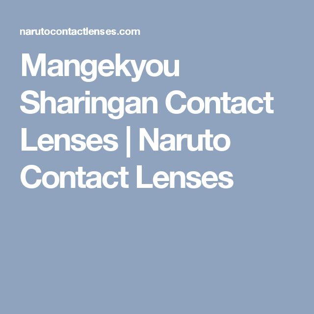 Mangekyou Sharingan Contact Lenses | Naruto Contact Lenses